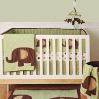 Mod Elephant Bedding by Kidsline - Elephant Baby Crib Bedding - 8504bed4