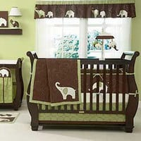 Green Elephant Bedding by Carters - Elephant Baby Crib Bedding - c201bed4