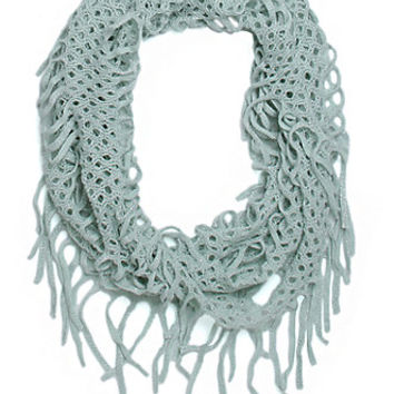 With Love From CA Lurex open Knit Infinity Scarf at PacSun.com