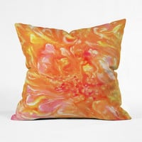 Swirled Petals Throw Pillow Cover