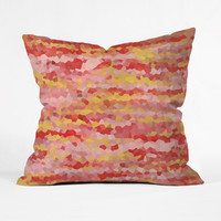 Color Point Throw Pillow Cover