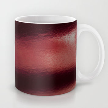 Red metal Mug by VanessaGF