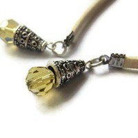 Sunshine Yellow Swarovski Crystals Bookmark Thong Marker