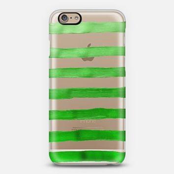 Jolly Green Stripes (transparent) iPhone 6 case by Lisa Argyropoulos | Casetify