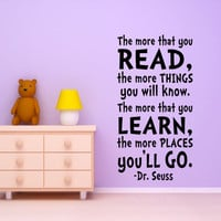 Kids Wall Art Dr. Seuss Quote Wall Decal