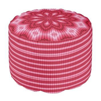 Pink-Red Digi Art Pouf Seat