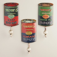 Mom's Soup Can Hooks, Set of 3 - World Market