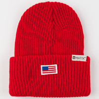 Matix Lincoln Beanie Red One Size For Men 24443630001