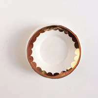 Ring Dish with Gold - Modern Home Decor - Gold Wedding Gifts