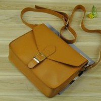 Vintage Inspired Satchel Cross-body Bag Brown