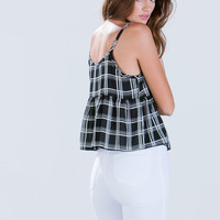 Glad 4 Plaid Peplum Top
