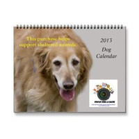 2013 Focus for a Cause Dog Wall Calendar from Zazzle.com