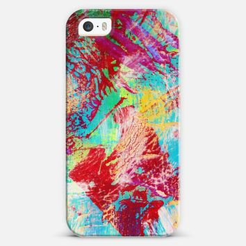 REEF STORM - Fun Bright Colorful Whimsical Bold Playful Rainbow Sea Waves Water Swirls Underwater Ocean Reef Theme Coral Aquatic Abstract Painting iPhone 5s case by Ebi Emporium | Casetify