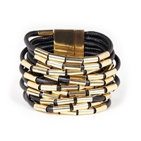 Sole Society Metal And Cord Layered Bracelet