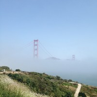 Golden Gate through the Fog Art Print by Sights Pacific | Society6