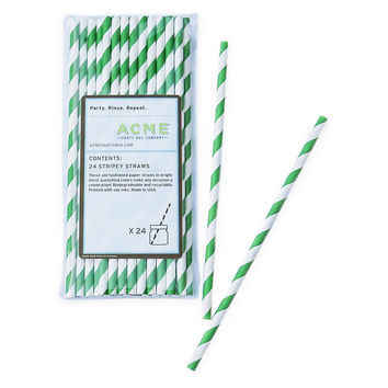 Stripey Straws, Green, Set of 96, Other Bar Tools & Accessories