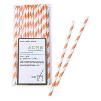 Stripey Straws, Orange, Set of 96, Other Bar Tools & Accessories