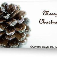 Brown Pine Cone Christmas Card Holiday Greeting Card