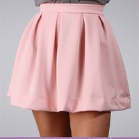Sale-Pink Back Zipper Skirt