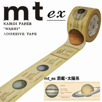 Solar System, Universe, Space Tape - Japanese Washi Paper Masking Tape - mt ex - Scrapbooking, Kawaii Deco Collage, Gift Wrapping Sticker