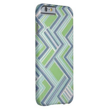 Vintage Retro zigzag pattern iPhone 6 case