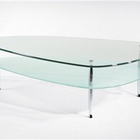 Gabriella Contemporary Glass Top Coffee Table, Glass Top Coffee Table, Modern Coffee Table: Nyfurnitureoutlets.com