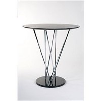 Stacy Modern Design Round Wood Top Marble Base Bar Table, Marble Base Bar Table: Nyfurnitureoutlets.com