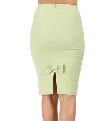 Grass Green High Waist Pencil Skirt