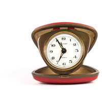 Back to school - Vintage red foldable clock