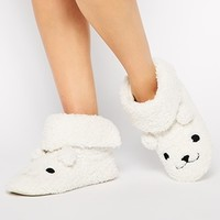 New Look Nolar Polar Bear Novelty Slippers