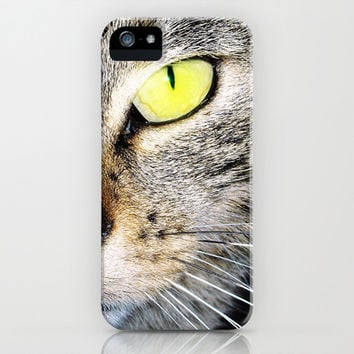 Cat's yellow eyes iPhone & iPod Case by cafelab