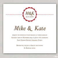DIY Wedding Invitation and RSVP Cards  - Digital PDF - Minimal Wedding - Modern Style