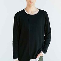 Your Neighbors Long Layered Crew Neck Sweater-