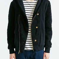 Standard Issue Shearling Hooded Jacket - Urban Outfitters