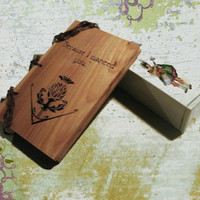 Outlander Inspired Wood Journal - Notebook READY TO SHIP