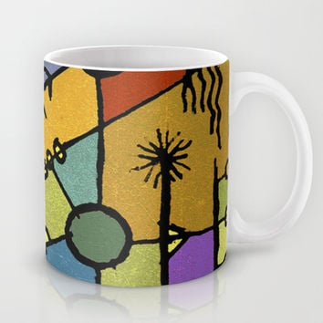 Multicolored Tribal Pattern Print All Over Mug by DFLC Prints