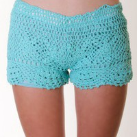 MINT MINT CROCHET SHORTS @ KiwiLook fashion