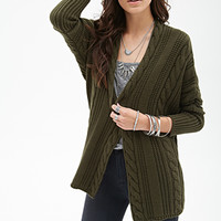 Cable Knit Batwing Cardigan