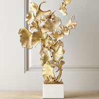 John-Richard Collection Floating Ginkgo Leaves Sculpture
