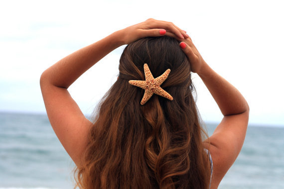 Sugar Starfish Barrette - Large