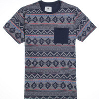 On The Byas Cort Jacquard Crew T-Shirt - Mens Tee - Blue