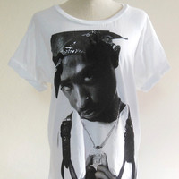 2Pac Shirt Tupac Shakur Rap Hip Hop Gang Rap -- Hip Hop Shirt Music Tee Shirt White T-Shirt Women T-Shirt Men T-Shirt Music T-Shirt Size M