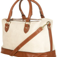 Cream Top Lock Holdall - Bags & Wallets  - Accessories