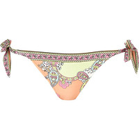River Island Womens Orange printed bikini brief