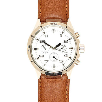 River Island MensBrown small round watch