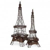 IMAX 2 Piece Eiffel Tower Accent Set - 12369-2