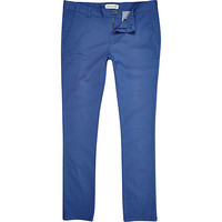 River Island MensBlue skinny stretch chinos