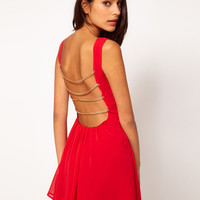 Rare Skater Dress with Chain Strap Back at asos.com