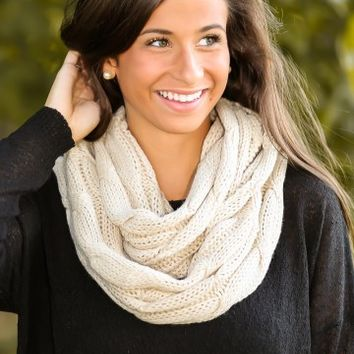 Cup Of Cocoa Infinity Scarf-Latte