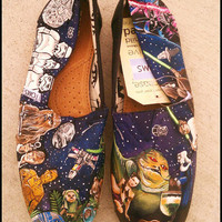 STAR WARS Toms - New Shoes Included - Made to Order - Classic Toms or Ballet Flats